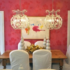 Transitional Dining Chairs Purple Ball Chair Pink Wallpaper - Room Megan Winters
