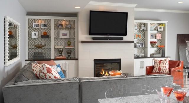 orange color sofa sets foam mattress queen sleeper built in cabinets - contemporary living room benjamin ...