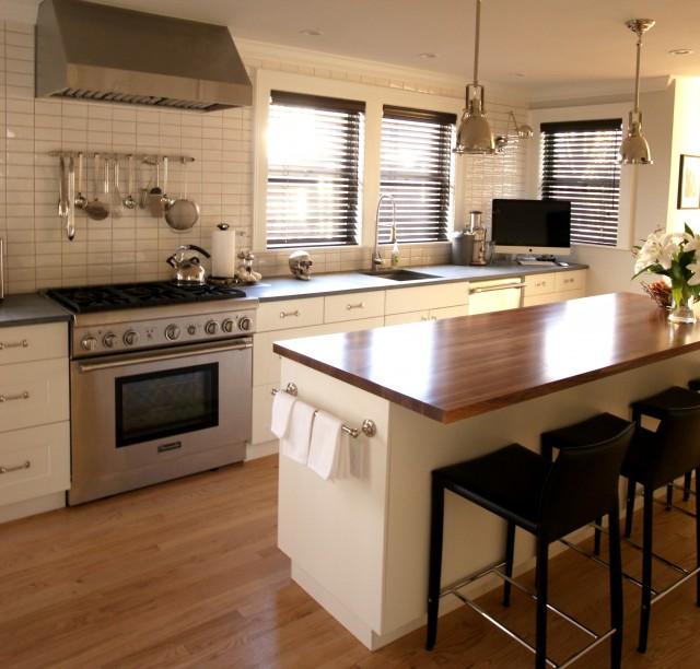 Wood Kitchen Countertops Transitional Kitchen