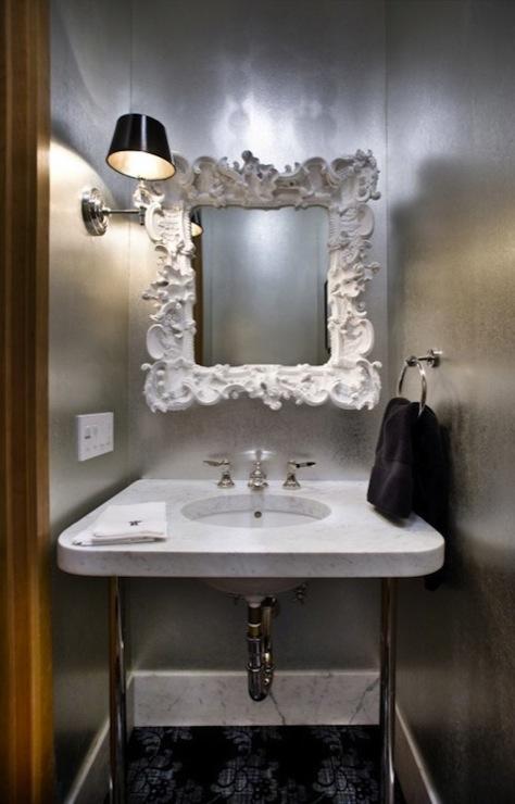 Baroque Mirror  Contemporary  bathroom  Real Rooms Design