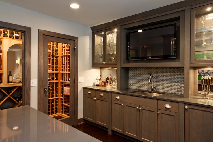 Wet Bar Design  Transitional  kitchen  Refined LLC