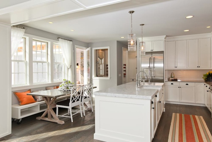 Concrete Dining Table  Transitional  kitchen  Refined LLC