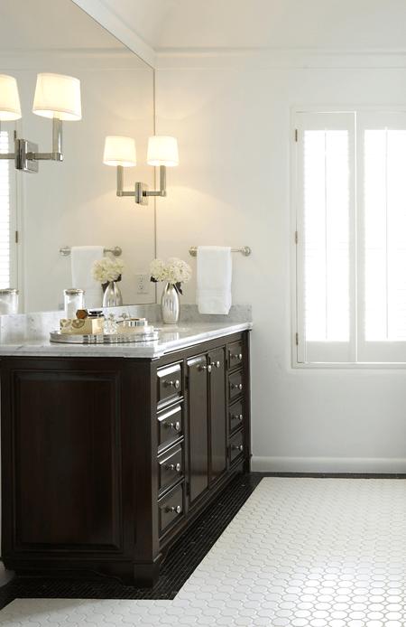 Espresso Cabinets  Transitional  bathroom  Ashley