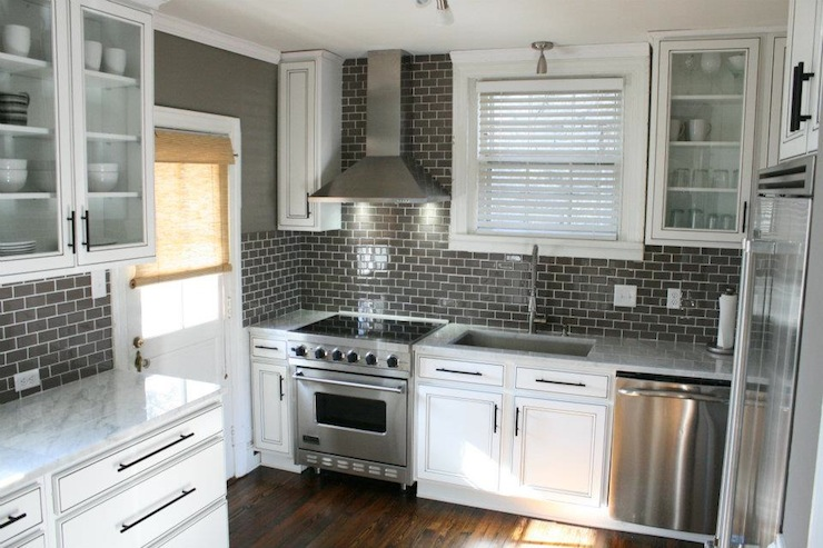 gray subway tile kitchen bins charcoal contemporary kenneth byrd design