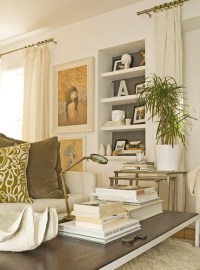 Ivory Curtains - Transitional - living room - Helen Green ...