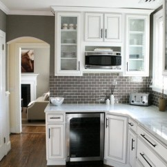 Gray Subway Tile Kitchen Ceramic Canisters Backsplash Contemporary Kenneth Byrd