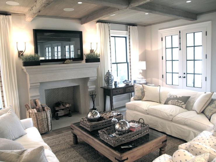 living room design ideas tv over fireplace stand flatscreen transitional jane green