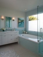 Turquoise Glass Tiles   Contemporary   bathroom   Shirley ...