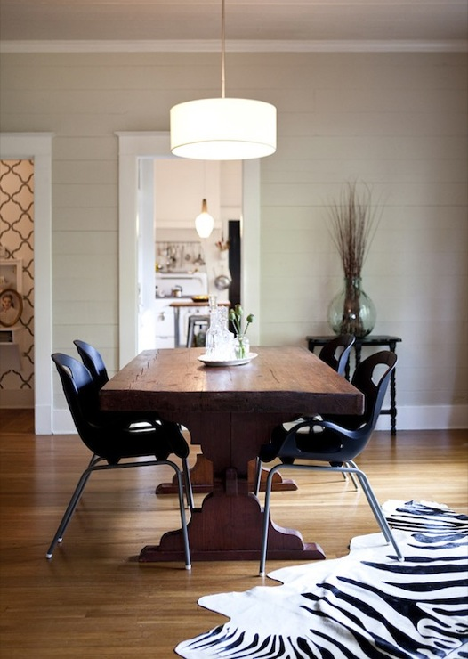Riveted Mesh Round Chandelier Transitional Dining Room