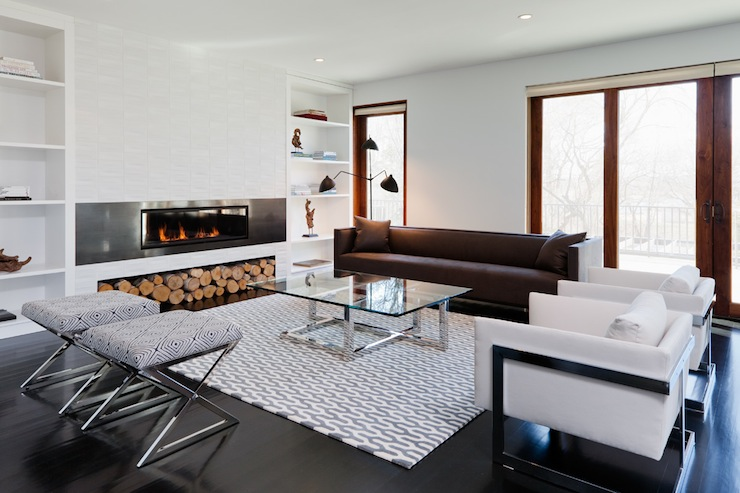 Modern Fireplace  Contemporary  living room  Haus Interior