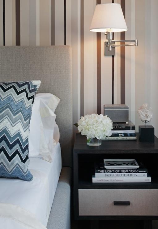Blue Chevron Pillow  Contemporary  bedroom  Haus Interior