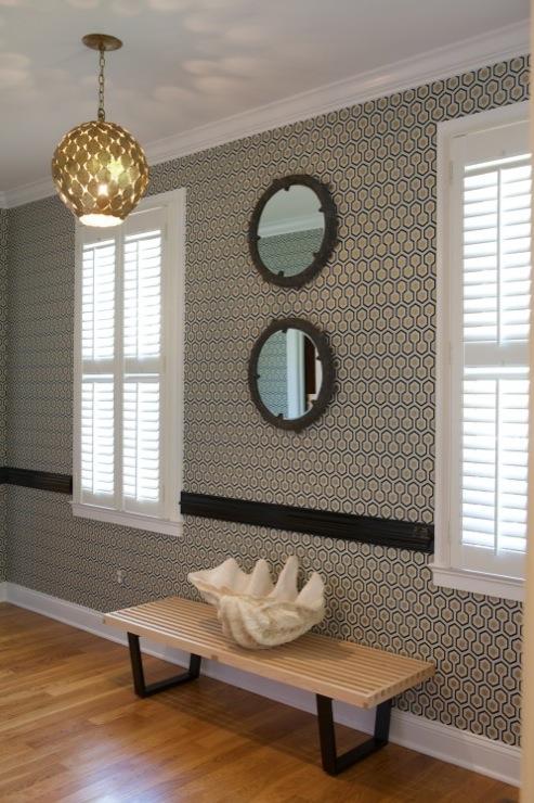 David Hicks Hexagon Wallpaper Design Ideas