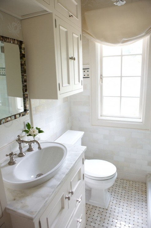 Cabinets over Toilet  Transitional  bathroom  Heather Garrett Design