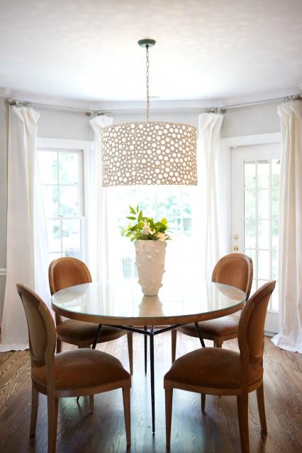 Oly Studio Meri Drum Chandelier  Transitional  dining room  Heather Garrett Design