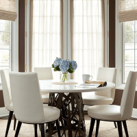 White Marble Top Dining Table - Cottage - kitchen ...