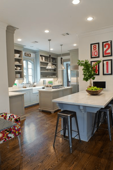 Gray Green Cabinets  Transitional  kitchen  Benjamin