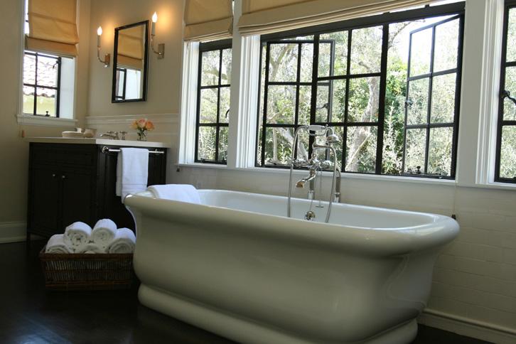 Tub under Window  Transitional  bathroom  Burnham Design