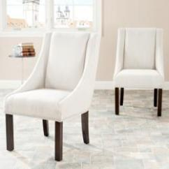 Overstock Arm Chair Chromcraft Table And Chairs Sloping Beige Polyester Nailhead Dining Set Of 2 Com