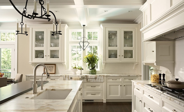 Off White Kitchen Cabinets  Transitional  kitchen