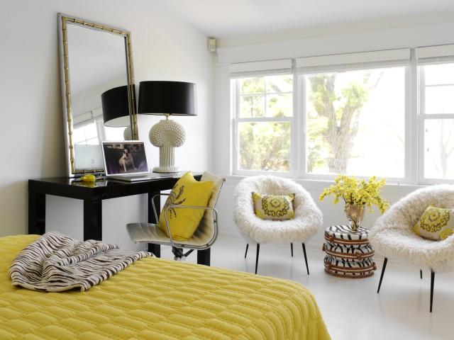yellow bedroom contemporary bedroom