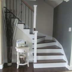 Country Cottage Living Room Decor Accent Tables Entrance/foyer - Benjamin Moore Veranda/anchor Gray