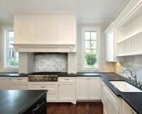 Honed Black Countertops - Transitional - kitchen ...