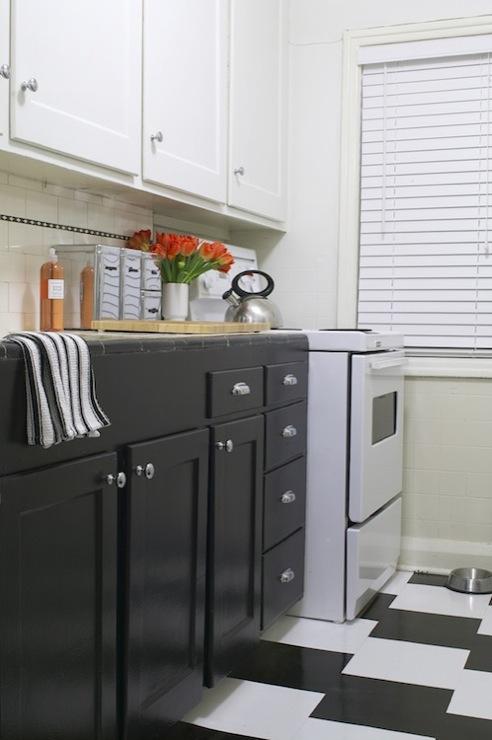 Dark Grey Upper Cabinets Design Ideas