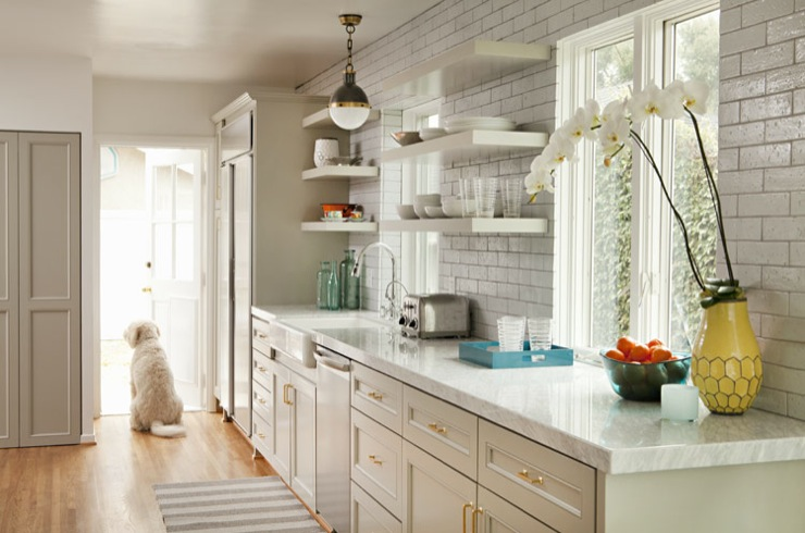 Light Gray Cabinets Contemporary Kitchen Bonesteel