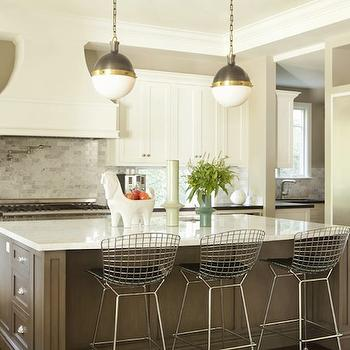 beveled tiles kitchen soft flooring options lit cabinets - transitional a well ...