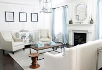 White Mirrored Cabinet - Contemporary - living room ...