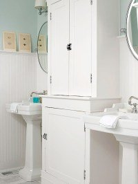 Beadboard Cabinets - Cottage - bathroom - BHG