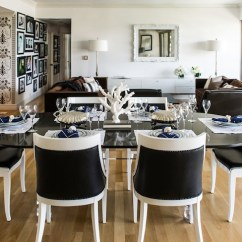 Black Living Room Chairs Small Furniture Arrangement Pictures And White Eclectic Dining Janet Rice Interiors