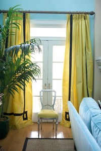 Yellow Curtains - Contemporary - living room - Benjamin ...