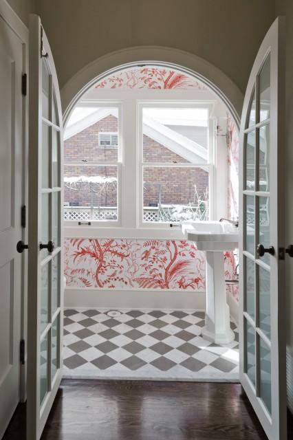 Checkered Bathroom Floor Eclectic Bathroom Cameo Homes