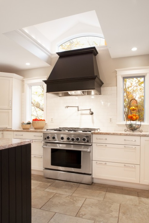 Black Kitchen Hood  Transitional  kitchen  Aidan Design