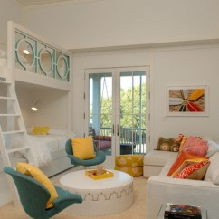 Childrens Sofa Chairs Craigslist And Loveseat Built In Bunk Beds - Contemporary Girl's Room Herlong ...