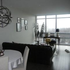 Modern Black Leather Sofa Diy Reupholster Cushion Living Room - Sherwin Williams White Heron