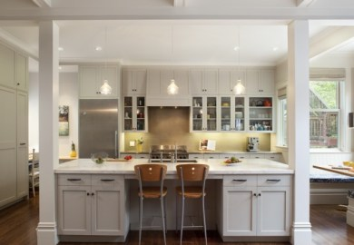 Gray Kitchen Cabinets Contemporary Kitchen Gast Architects