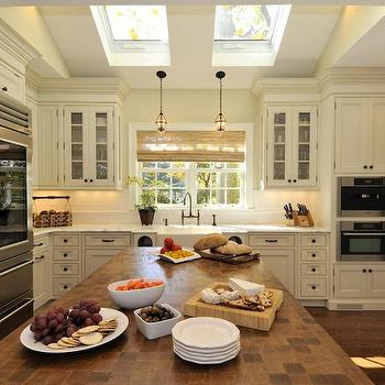 kitchen skylights ceiling fans design ideas in