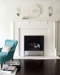 Mirrors Above Fireplace - Contemporary - living room - Amy ...