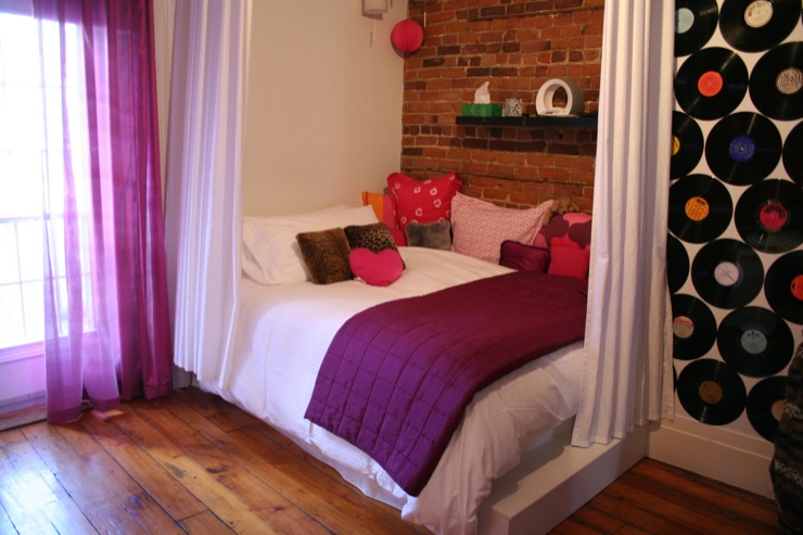 Girls Room With Exposed Brick Wall