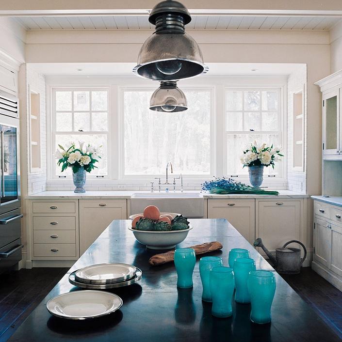 Turquoise Kitchen Accents  Cottage  kitchen  Wick Design