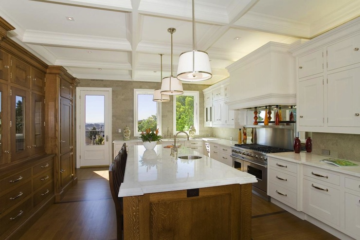 Coffered Ceiling Kitchen  Traditional  kitchen  William