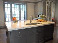 Gray Kitchen Island - Contemporary - kitchen - Cassia Design