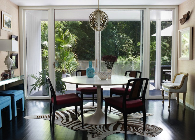 Saarinen Table  Eclectic  dining room  Angie Hranowsky