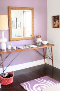 Purple Accent Wall - Contemporary - entrance/foyer - Ralph ...