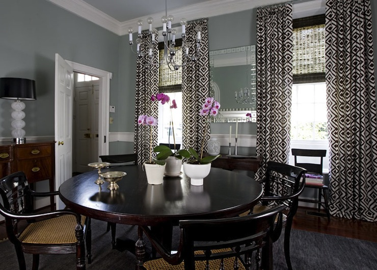 Black And White Curtains French Dining Room Janie