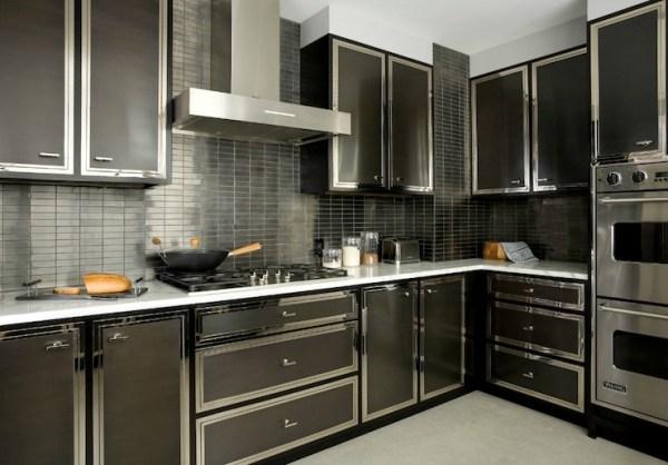 black kitchen tiles Black Kitchen Backsplash Design Ideas