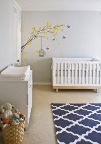 Gray and Blue Nursery - Contemporary - nursery - Turquoise LA