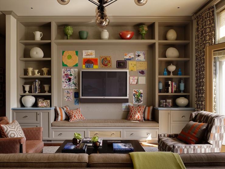 Modern Built In Cabinet Living Room Novocom Top